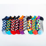 Colored Small Diamond Ship Socks