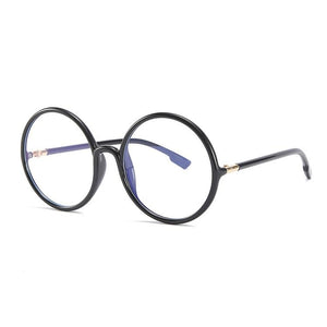 DF Anti-blue Light Round TR90 Flat Glasses
