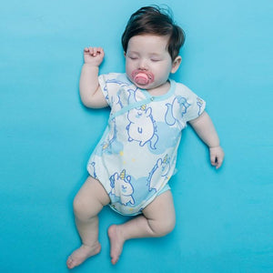 Baby Blue Unicorns Crawling Suit