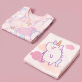 Baby Pink Rainbow Horse Crawling Suit