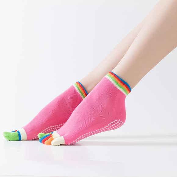HJ Non-Slip Five-Toed Dispensing Yoga Socks
