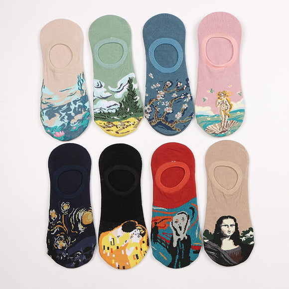 Oil Painting Unisex Ship Socks