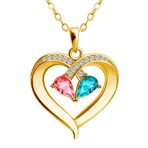 MLYJ Two-tone Peach Heart Necklace