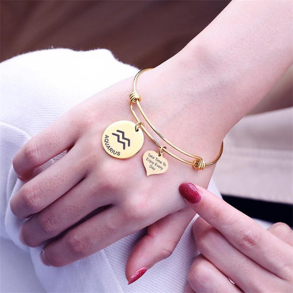MLYJ 12 Constellation Adjustable Bracelet