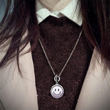 MLYJ 360° Rotating Smiley Necklace