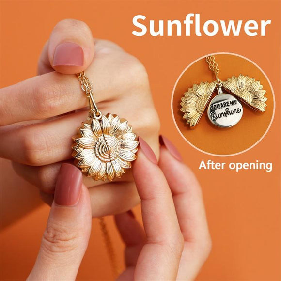 MLYJ Sunflower Open-close Necklace