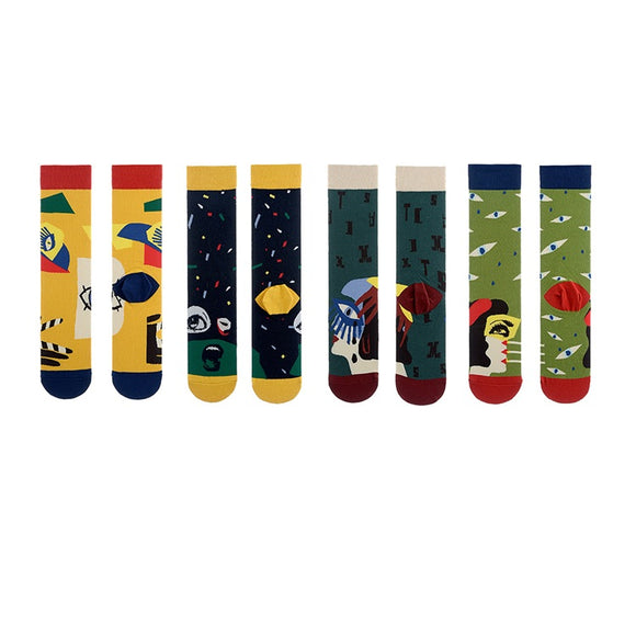 Abstract Painting Tube Lady Socks