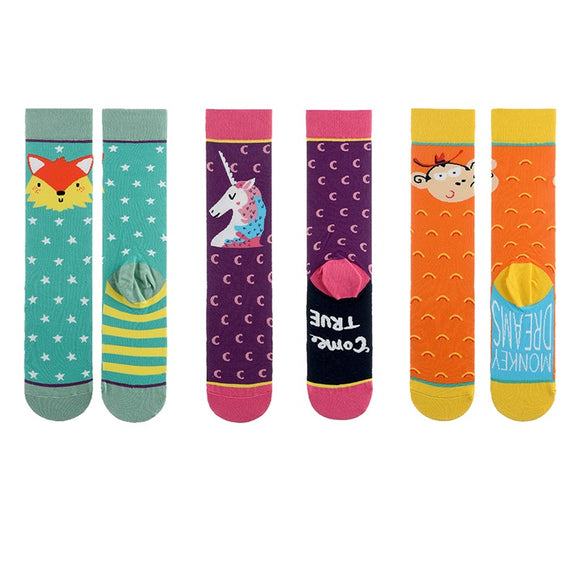Unicorn Fox Monkey Tube Lady Socks