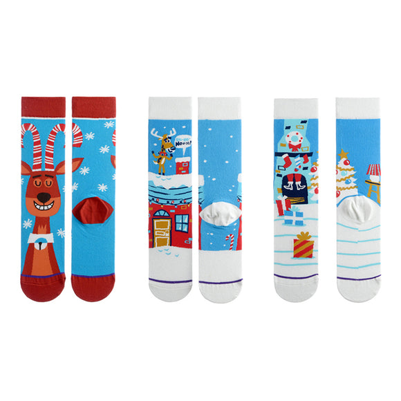 Christmas Moose Tube Lady Socks