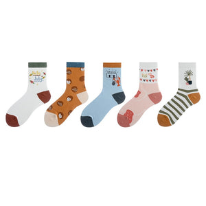 Creative Illustration Lady Socks