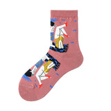 Abstract Role Lady Socks