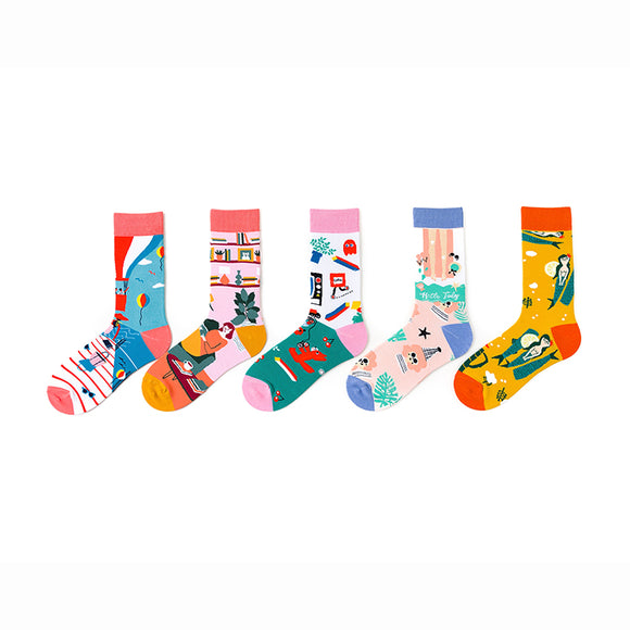 Girl's Seaside Holiday Girl Socks