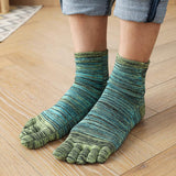 Men's Blurred Line Toe Socks