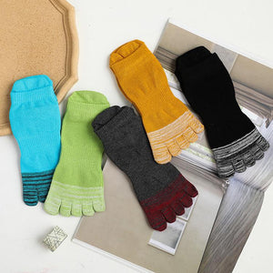Men's Short Heel Double Color Toe Socks
