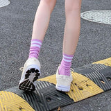 Double Stripes Solid Color Socks