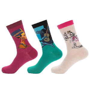 Classic Portrait Painting S1 Socks