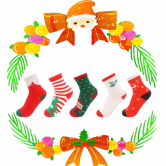 Santa Travels Children's Socks