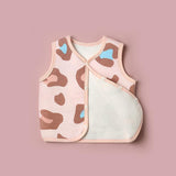 Stylish Leopard Print and Cotton Thermal Baby Vest