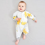 Autumn Stretch Long-Sleeved Dinosaur Jumpsuit