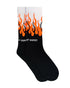 Orange Double Flames Socks