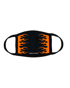 Orange Fluo Flames 2.0 FaceMask