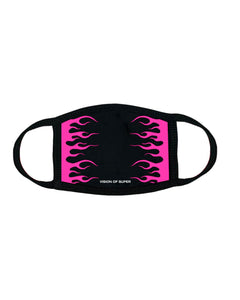 Pink Fluo Flames 2.0 FaceMask
