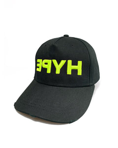 Yellow Fluo Hype Black Curve Cap