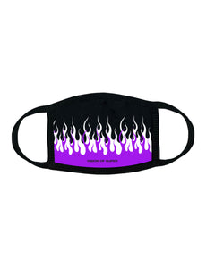 Double Flame Purple/White Face Mask