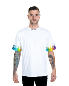 Vision of Super - Rainbow Flames White T-shirt
