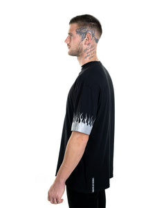 Reflective Flames Black T-shirt