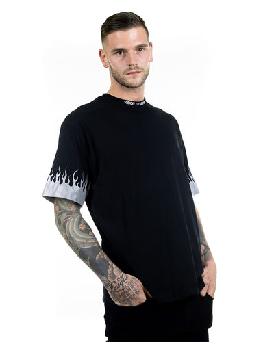 Vision of Super - Reflective Flames Black T-shirt