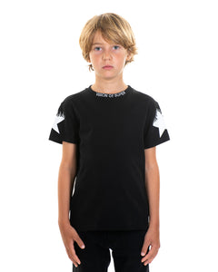 Kids - White Star Black T-shirt