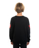 Kids - Red Stars Black Crewneck