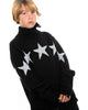 Kids - White Stars Black Jumper