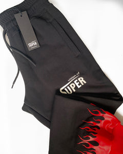 Red Flames 2.0 Black Pants