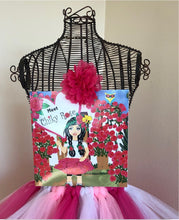 "Load image into Gallery viewer, Chiky Rose Book Vol. 1 ""Meet Chiky Rose"" with Three Tone Tutu Skirt and one large flower hair clip"