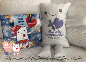 "(AA) JJ Pillowdoll ""My First Communion with Jesus I Love You Book"""