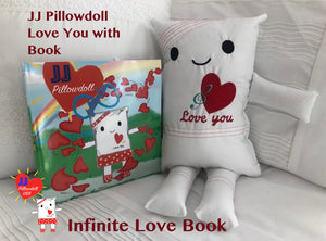 "(AA) JJ Pillowdoll 18"" Love You Pillow Doll with Infinite Love Book"