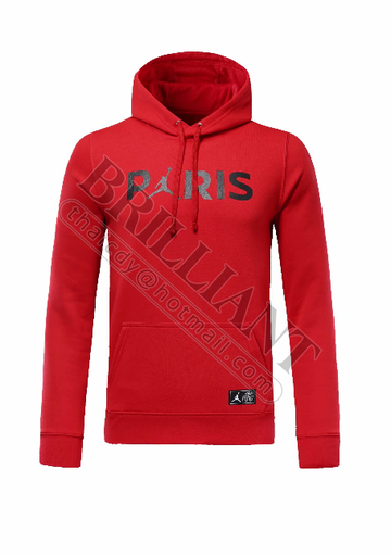 Sweat à capuche PSG Jordan  Rouge