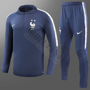 Ensemble de survêtement - France CDM 2018 - Bleu Navy