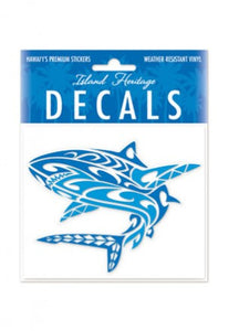 "Hawaiian Tribal Shark Decal Auto Sticker Sticker - 4""x 3"""