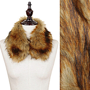 "Womens Fashion Brown Color Faux 23"" Fur Collar Scarf Accessory For Coat or Sweater"