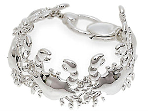 TROPICAL SEA LIFE CRABS SILVER PLATED MAGNETIC CLASP BRACELET