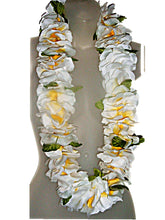 Load image into Gallery viewer, Hawaiian Deluxe Fluffy Soft White Lei Hula, Graduation, Luau & Wedding