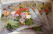 Load image into Gallery viewer, 4- Hawaiian Floral Sympathy Cards w/  Message Inside 5 x 7