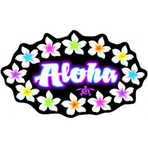 Hawaiian Aloha Flower Lei Decal Auto Sticker