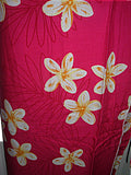 HAWAIIAN PLUMERIA FLOWERS PINK & WHITE LONG SKIRT & TOP SET (FAF16) One Size-(See Measurements)