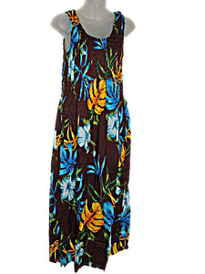 Hawaiian Tropical Print Tank Top Sun Dress-ONE Size (L-XL) tc083