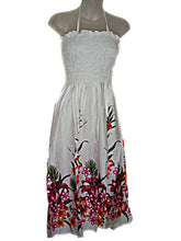 Load image into Gallery viewer, Hawaiian Tropical Sundress Strapless Spaghetti Strap Floral Long Dress- ONE SIZE (M-XL) tc089