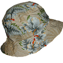 Load image into Gallery viewer, Hawaii Hawaiian Floral Reversible Cloth Fabric Bucket Cap / Hat  Blue